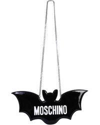 "Moschino ""bat"" Glossy Bag - Black"