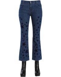 Stella McCartney Skinny Kick Stars Organic Cotton Jeans - Blue
