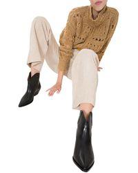Isabel Marant Stivaletti stivali donna con tacco in pelle dewina - Nero