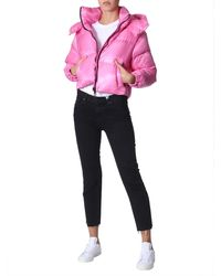 """Duvetica """"diadema"""" Down Jacket With Removable Hood - Pink"""