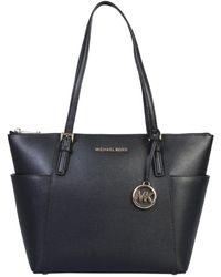 MICHAEL Michael Kors Jet Set Saffiano Leather Tote Bag - Black