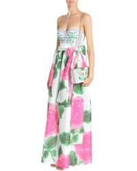 Tory Burch GONNA DANIELLA IN ORGANZA STAMPA NANTUCKET FLORAL - Rosa