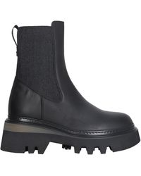 Woolrich Slip On Leather Boots - Black