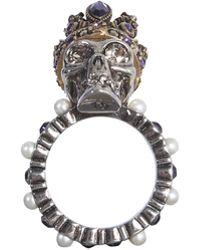 Alexander McQueen - Skull Swarovski Ring - Lyst