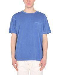 Nigel Cabourn Crew Neck Cotton T-shirt - Blue