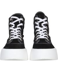 MM6 by Maison Martin Margiela Suede High Trainers With Logo Detail - Black