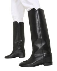Isabel Marant Chess Leather Boots - Black