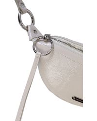 Rebecca Minkoff Mini Sling Bag In Paint - White