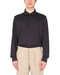 Z Zegna - Regular Fit Interlock Cotton Shirt - Lyst