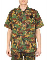 Off-White c/o Virgil Abloh Short-sleeved Camouflage Shirt - Green
