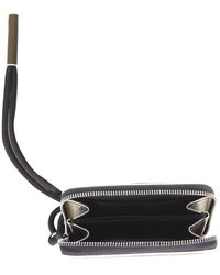 Marni Shiny Leather Wallet With Zip And Cord - Red