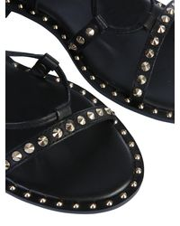 "Ash ""princess"" Leather Sandals With Studs - Black"