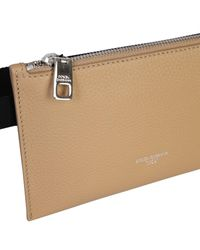 """Dolce & Gabbana """"colonial Edge"""" Leather Pouch - Natural"""