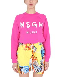 MSGM Fuchsia Other Materials Sweatshirt - Pink