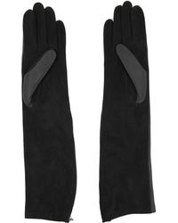 Lanvin - Bi Material Long Gloves - Lyst