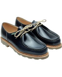 Paraboot Michael Leather Two Holes Lace Ups - Blue