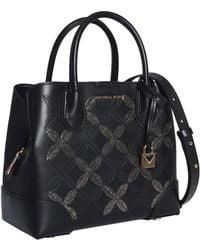 Michael Kors Mercer Gallery Bag In Leather - Black