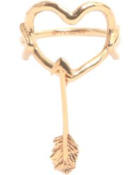 Givenchy - Heart And Arrow Ring - Lyst