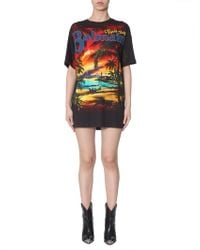 Balmain - Tropical-print Cotton Oversized T-shirt - Lyst