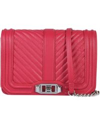 Rebecca Minkoff Mini Love Quilted Chevron Leather Bag - Red