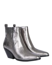 MICHAEL Michael Kors - Sinclair Metallic Leather Boots - Lyst