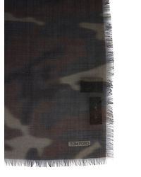 Tom Ford Camouflage Scarf - Black
