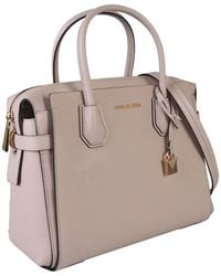 MICHAEL Michael Kors Mercer Hammered Leather Bag - Pink