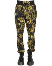 Versace Jeans Couture PANTALONE JOGGING IN FELPA DI COTONE CON STAMPA BIJOUX BAROQUE - Multicolore