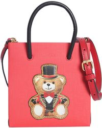387a07fe9a Moschino - Tote Bag In Leather With Teddy Bear Circus - Lyst