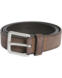 BOSS by Hugo Boss - Suede Leather Belt With Buckle - Lyst