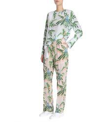 Stella McCartney Birds Of Paradise Printed Halle Trousers - Green