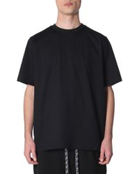 Y-3 Cotton Crew Neck T-shirt With Skull Embroidery - Black