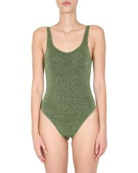 "Oséree ""lurex Sporty Maillot""one Piece Swimsuit - Green"