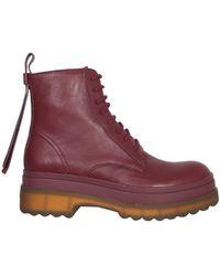 RED V Lyered Amphibian Boots - Purple