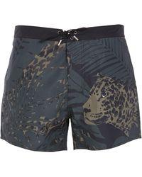 Saint Laurent Swimsuit With Necturne Leopard Print - Multicolour