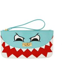 Boutique Moschino - Leather Monster Clutch - Lyst