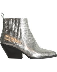 MICHAEL Michael Kors - Sinclair Boots In Metallic Leather - Lyst