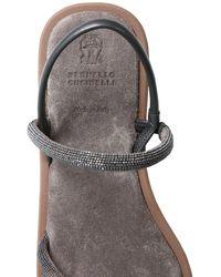 Brunello Cucinelli Suede Sandals - Black