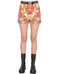 Moschino Shorts With Teddy Print - Multicolor