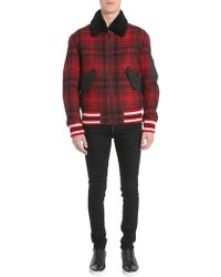 Tommy Hilfiger Wool Bomber Jacket - Red