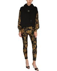 Versace Jeans Couture Sweatshirt With Bijoux Baroque Print - Black
