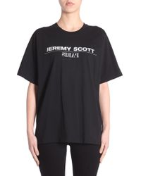Jeremy Scott - T-SHIRT OVERSIZE FIT IN COTONE CON STAMPA LOGO - Lyst
