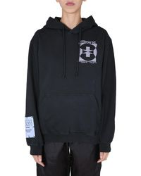 McQ Relaxed Fit Cotton Hooded Sweatshirt - Black