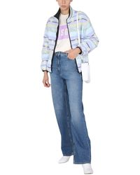 """MSGM """"fantastic Green"""" Jacket With Multicolour Geometric Pattern - Blue"""