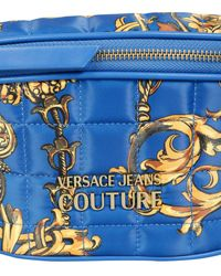 Versace Jeans Couture Baroque Print Belt Bag With Logo - Blue