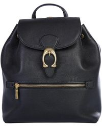 """COACH """"evie"""" Hammered Leather Backpack - Black"""