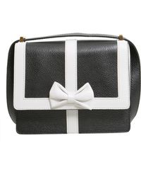 Boutique Moschino Crossbody Leather Bag - White