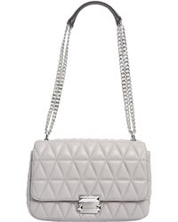 MICHAEL Michael Kors - Large Sloan Messenger Bag In Quilted Leather - Lyst