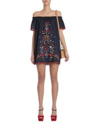 Tory Burch | Wildflower Embroidered Beach Dress | Lyst