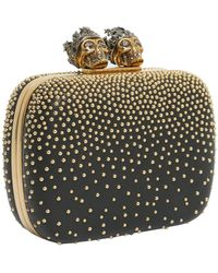 "Alexander McQueen - Studded ""queen And King"" Skeleton Box Leather Clutch - Lyst"